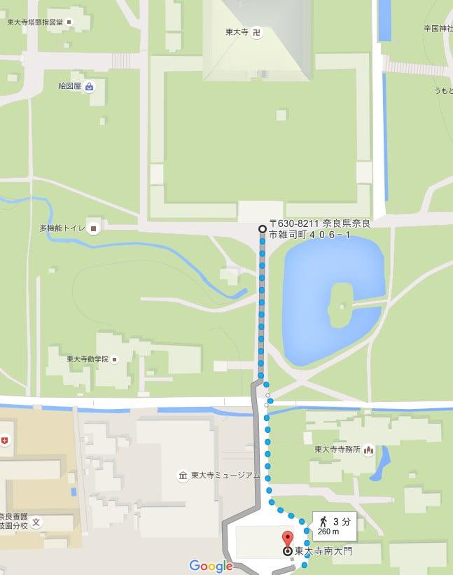 まず、ベースとなる見学コースは、「東大寺・南大門」から「東大寺・大仏殿」を拝観するコースが、基本的な見学のコースとなります。