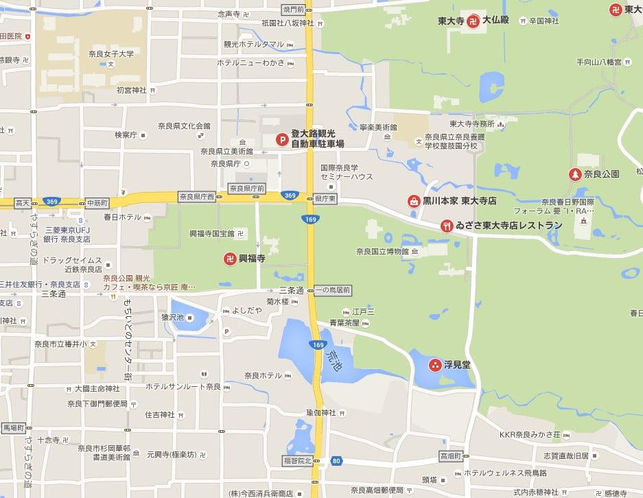 東大寺付近・周辺の駐車場付近の道路は、「どれくらい渋滞するの?」