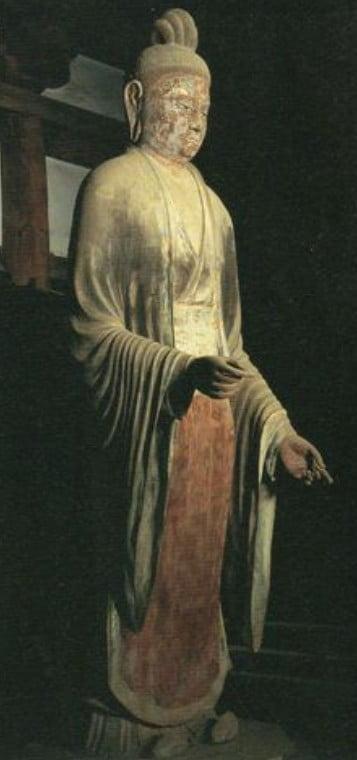 ↑東大寺・法華堂(三月堂)「帝釈天立像」