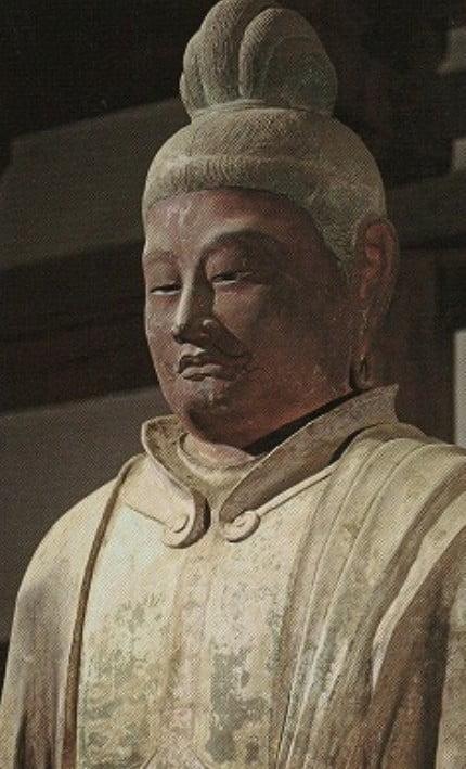 ↑東大寺・法華堂(三月堂)「梵天立像」