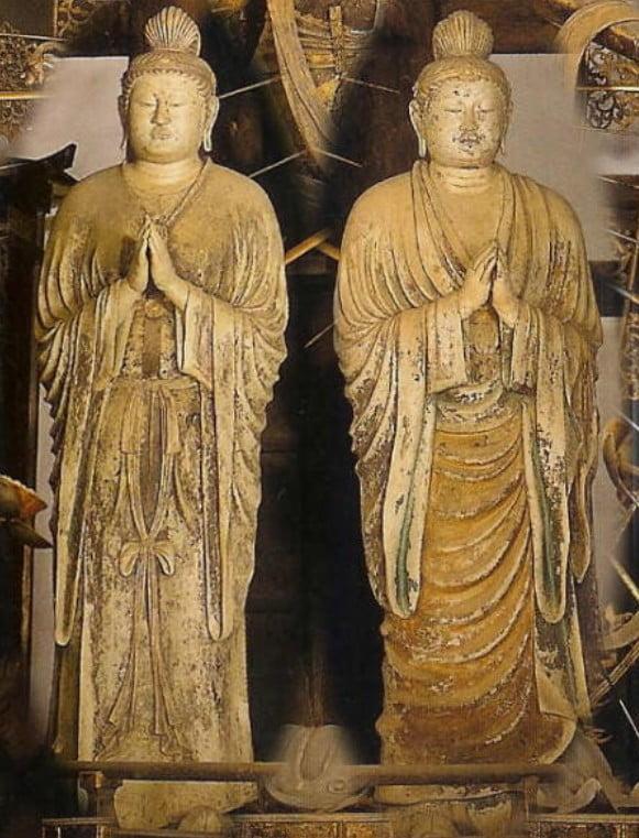 東大寺・「伝・日光菩薩立像」・「伝・月光菩薩立像」【国宝】