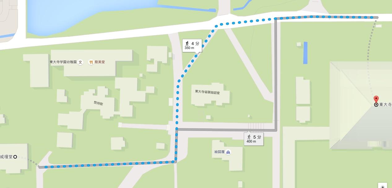 東大寺・戒壇堂の地図と場所